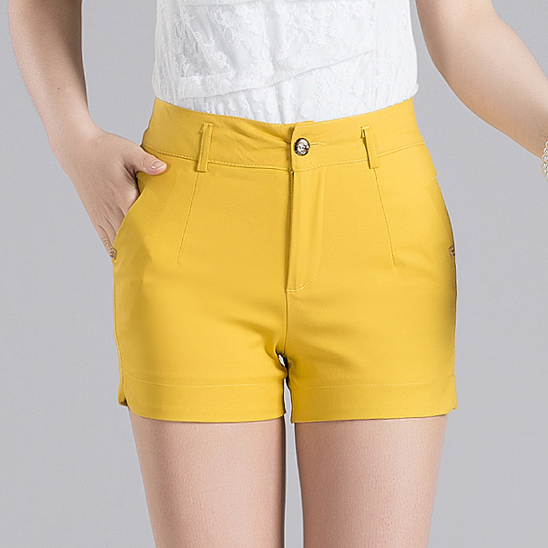 Korean version of casual pants female candy colored shorts female summer 2016 new spring and summer shorts shorts waist outer wear big yards hit the bottom