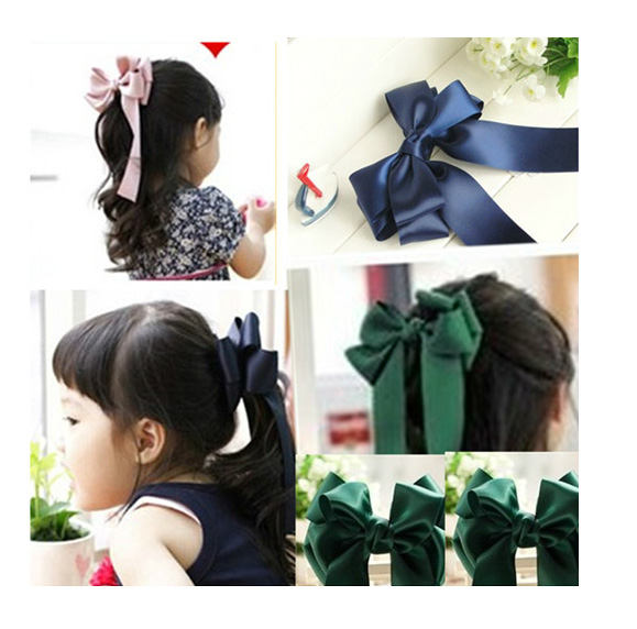 Korean version of the bow children hairpin korean baby girls hair accessories headdress head flower hair ornaments head ornaments