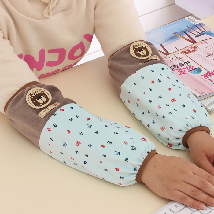 Korean version of the cartoon cute office lady long paragraph cuff sleeves children sleeves in autumn and winter antifouling protection sleeve cuff adult