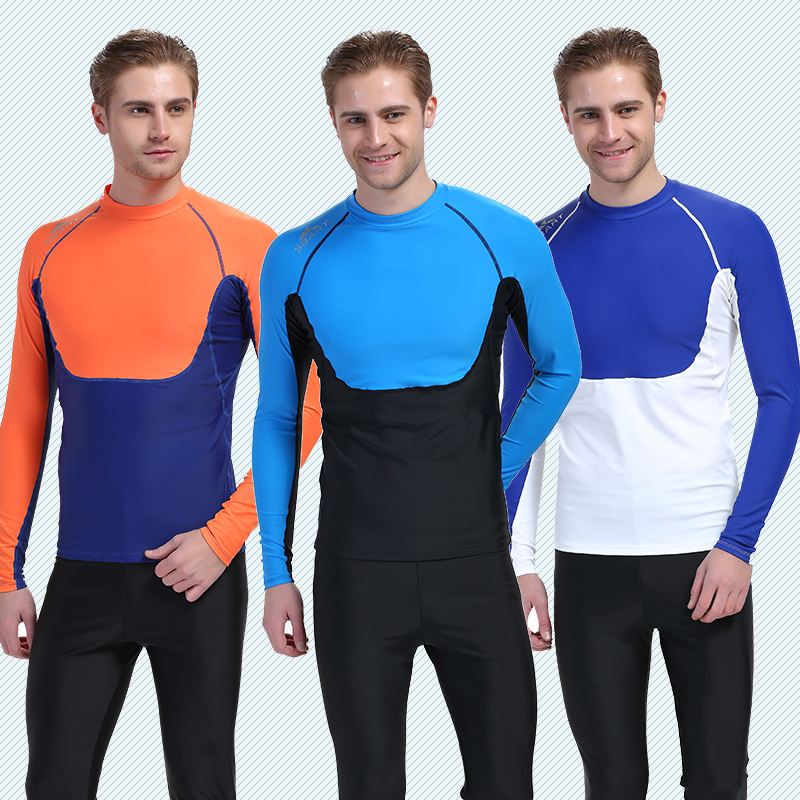 Get Quotations · Korean version of the coat long sleeve sun protection swimwear surf clothing snorkeling diving suit male