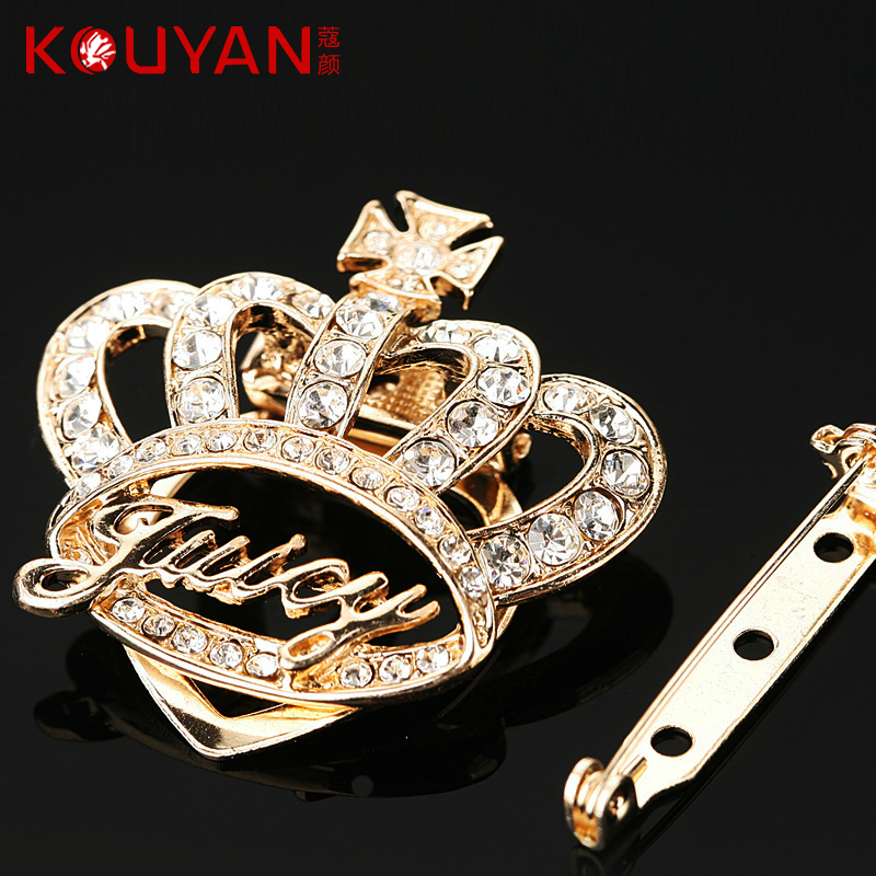 Korean version of the crown upscale exquisite diamond brooch rhinestone brooch scarf shawl buckle buckle small pin brooch clothing accessories