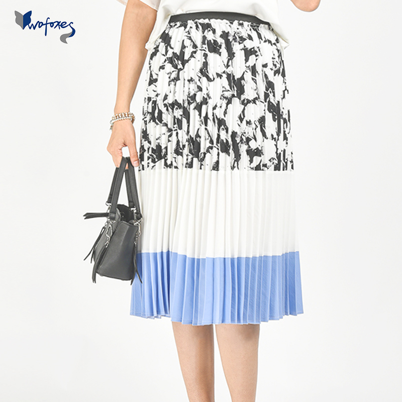 1bcd039268 Get Quotations · Korean version of the fall wofoxes2016 skirt waist chiffon  skirts and long sections female accordion pleats