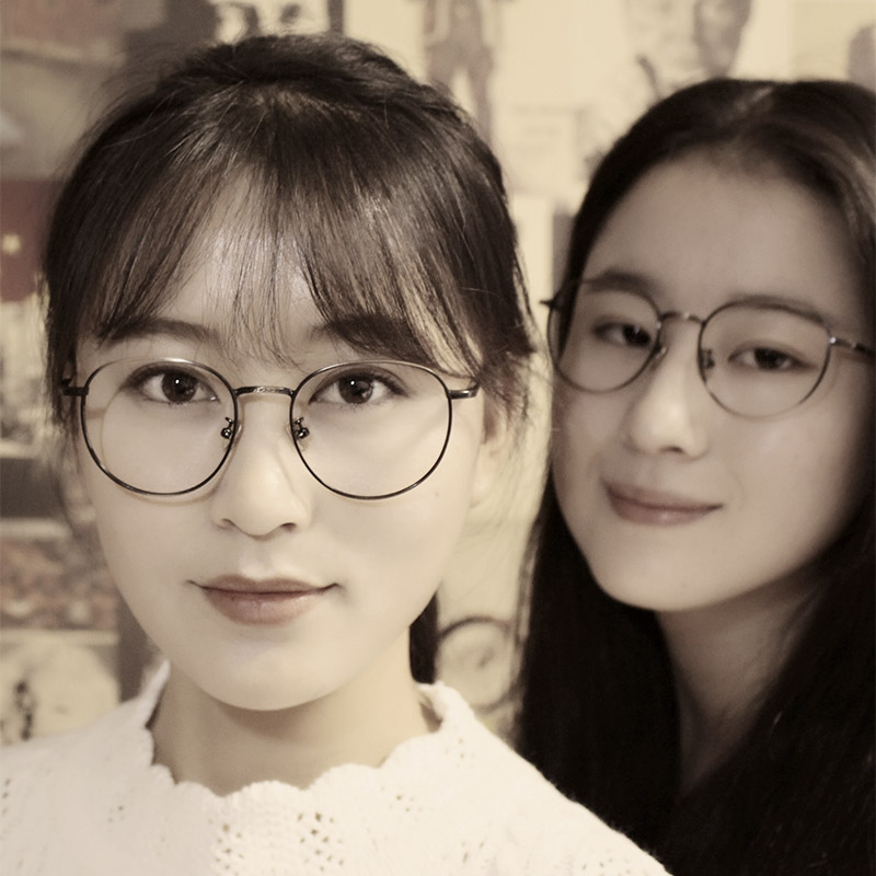 Korean version of the literary retro round glasses frame influx of male and female models titanium nickel metal round frame glasses frames myopia with glasses