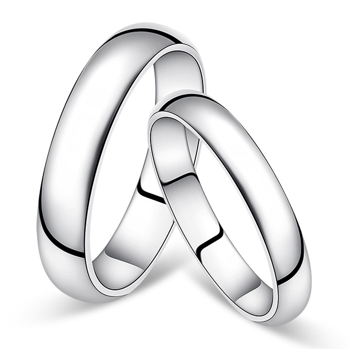 Korean version of the simple creative couple rings one pair of free lettering cobaltic male ms. platinum wedding rings on the ring tail