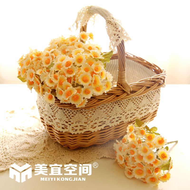Korean version of the us should contadino series storage basket willow storage baskets rattan baskets flower baskets simulation floral suit optional