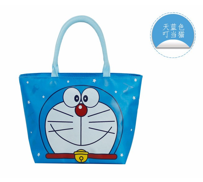 Korean version of waterproof canvas tote bag lunch picnic lunch bag lunch bag handbag small bag student bag