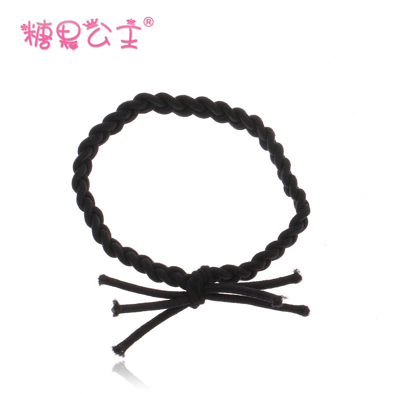 Korean wild candy princess tousheng hand knotted hair ring hair tie rubber band tied workers weave twist head ornaments