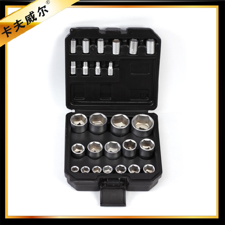 Kraft will 26 sets of socket set combination packages inch sleeve 6.3mm-12.5mm series inch sleeve