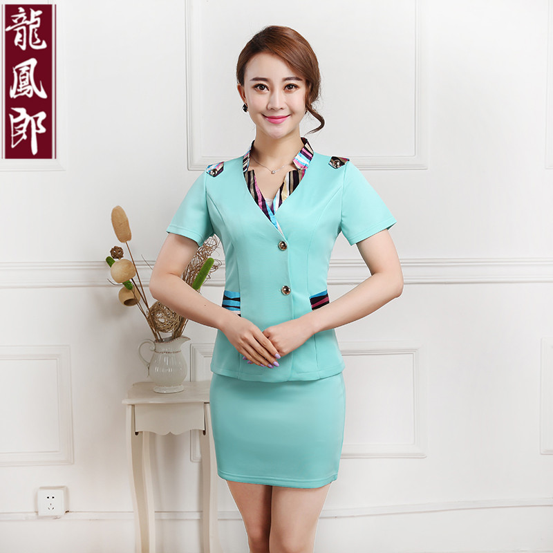 Ktv hotel uniforms summer stewardess uniforms career suits foreground foreman cashier shopping guide uniforms short sleeve