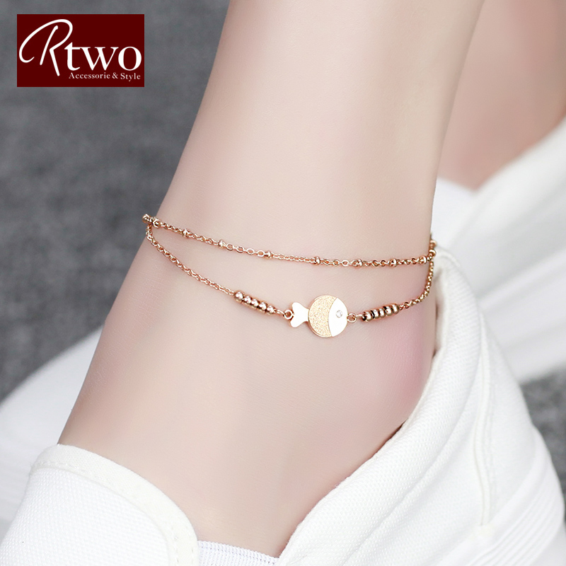 anklet gold cute lucky in products love jewelry chain