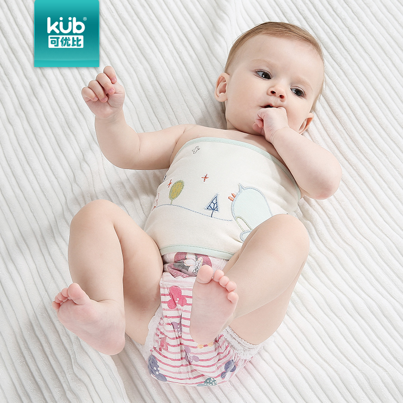 Kub can be gifted than baby newborn care belly circumference cotton umbilical cord care baby care belly thick warm autumn and winter