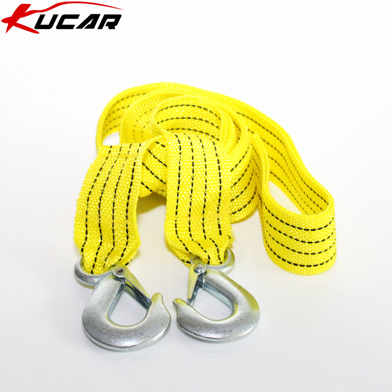 Kucar car emergency trailer tow rope necessary traveling by car tow rope rescue rope 3 tons of nylon fishing line 3 m