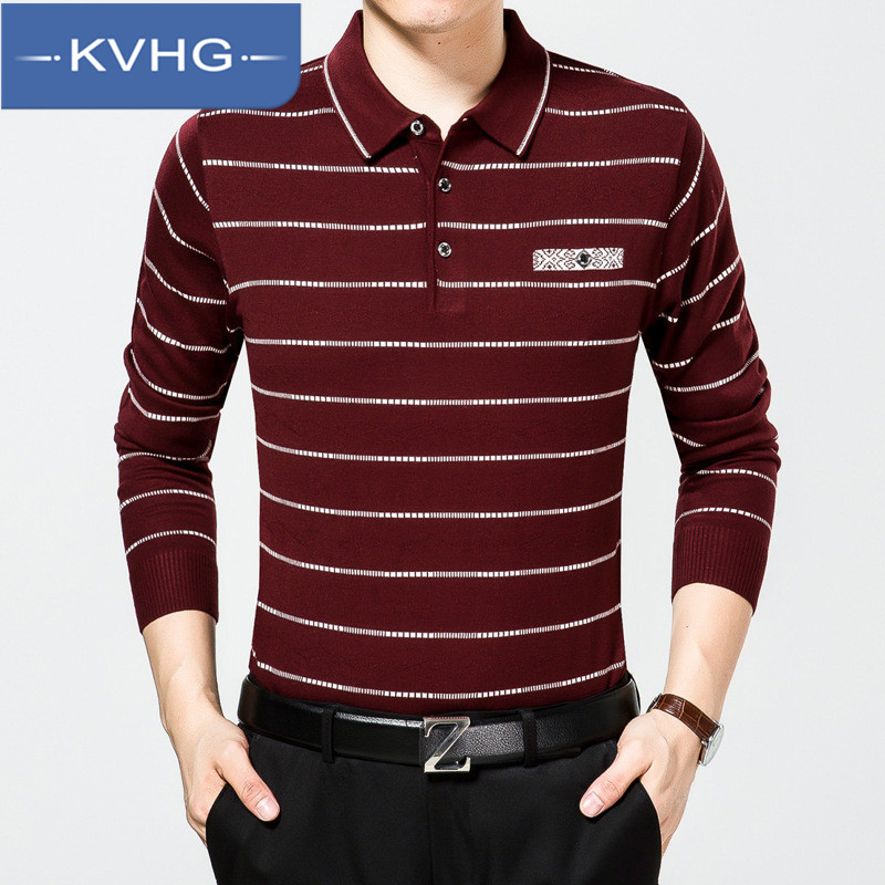Kvhg menswear winter 2016 new sweater lapel male korean version of hedging loose wool sweater pattern 3021