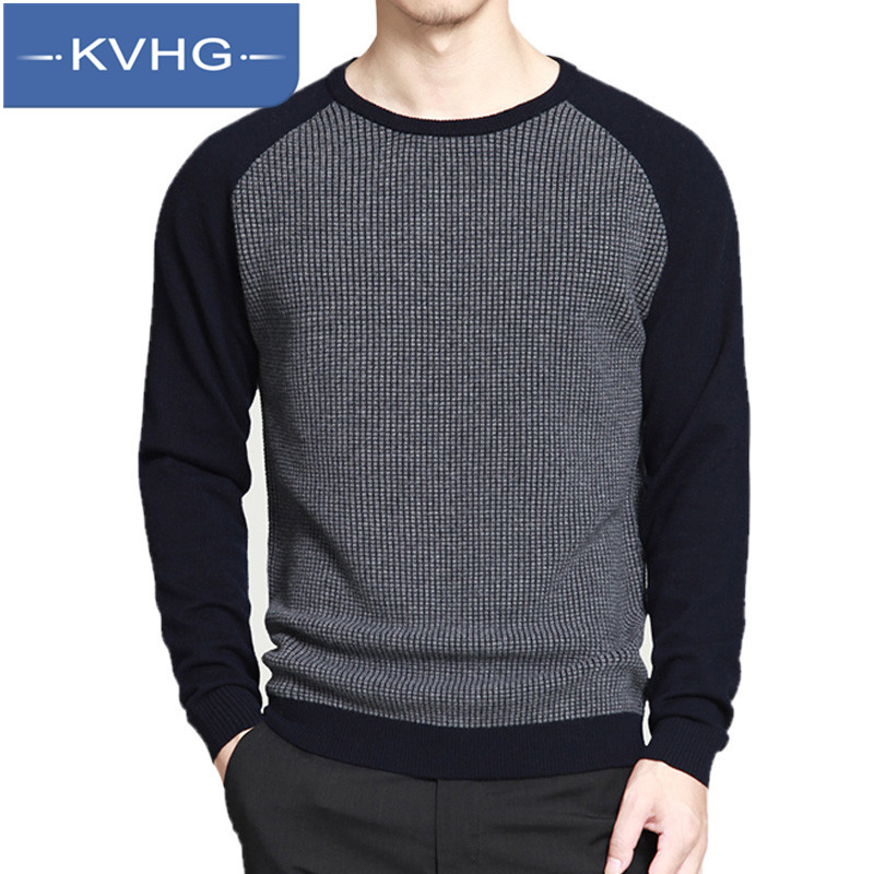 KVHG2016 new sweater hedging round neck sweater coat wild fashion men's casual and comfortable tide 0399