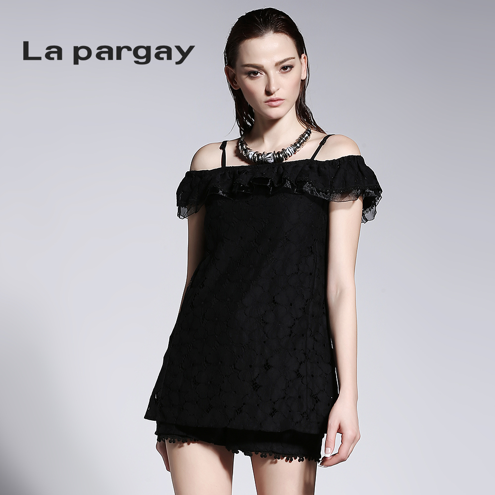 La pargay2016 L422943P expected to spend the summer new multifunction lace jumpsuit skirt