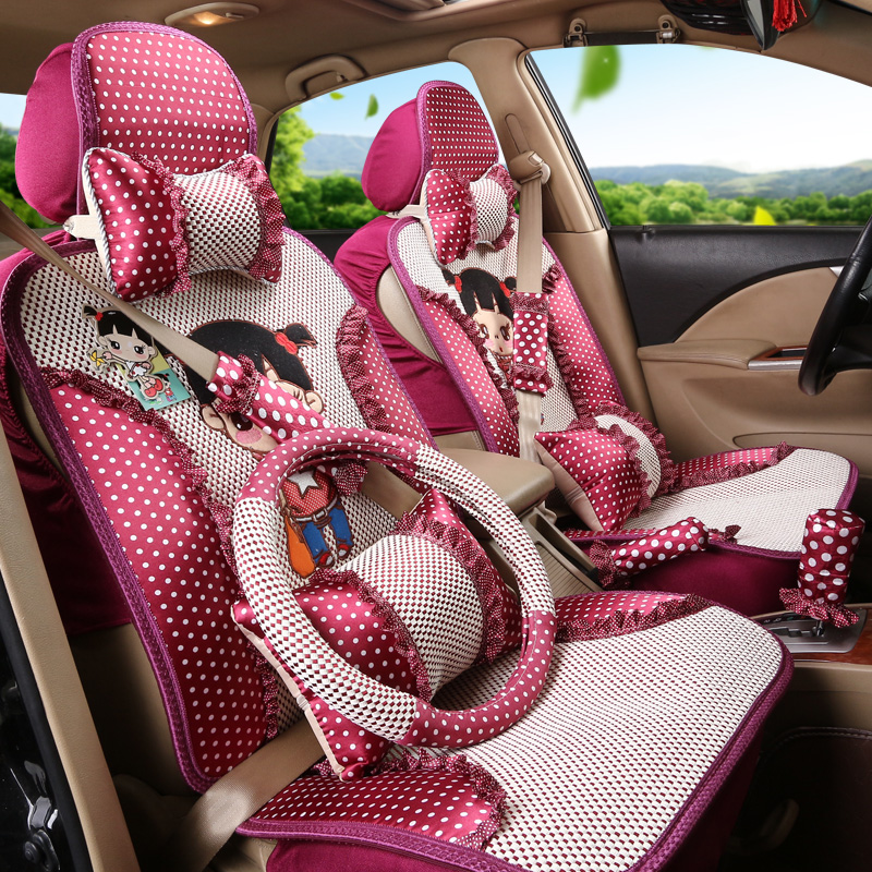 Lace car seat cushion new summer long lace lace seat covers car seat lavida lavida car sylphy