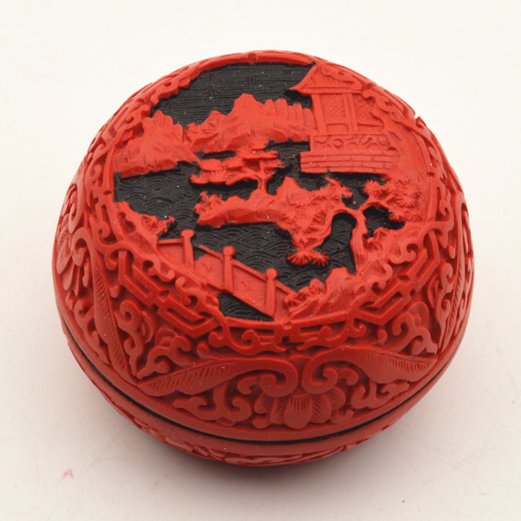Lacquer carved lacquer jewelry box features folk arts and crafts chinese wind gift to send foreigners small gifts souvenirs