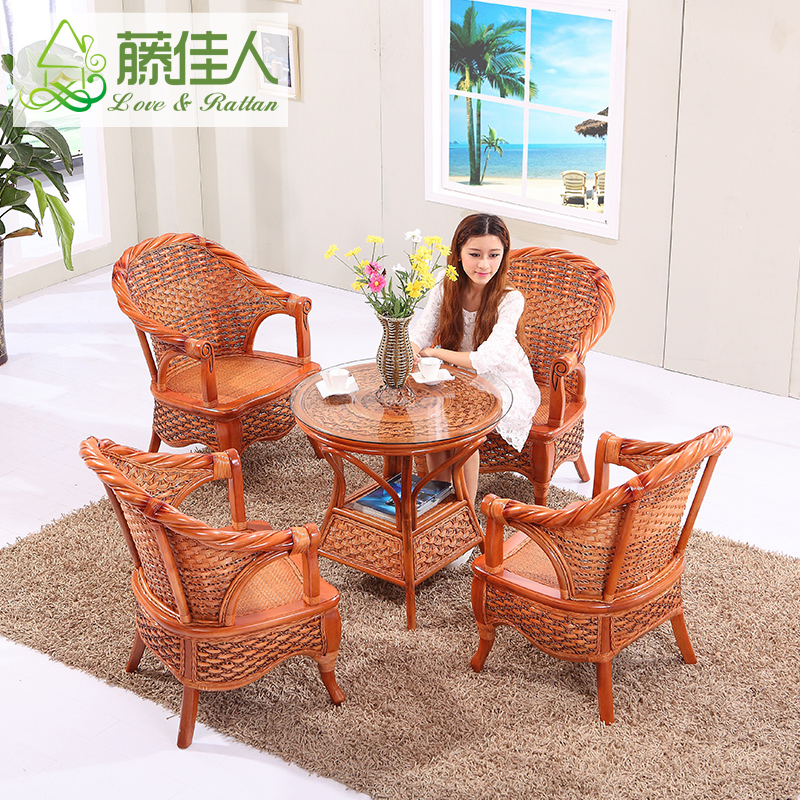 Lady rattan lounge chair combination rattan furniture combination of 5 sets of customized sets of two sets of casual wicker chair wicker chair custom