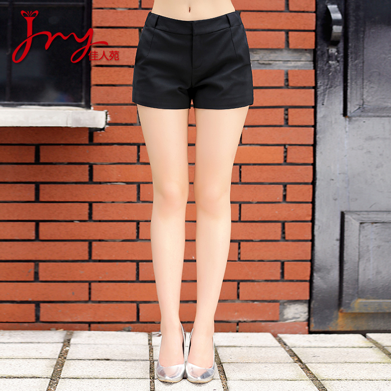 Lady yuan 2016 hitz women commuter simple solid color wild fashion casual pants shorts female