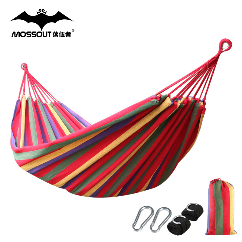 Laggards single double metal buckle thick canvas hammock swing outdoor camping dorm send professional straps