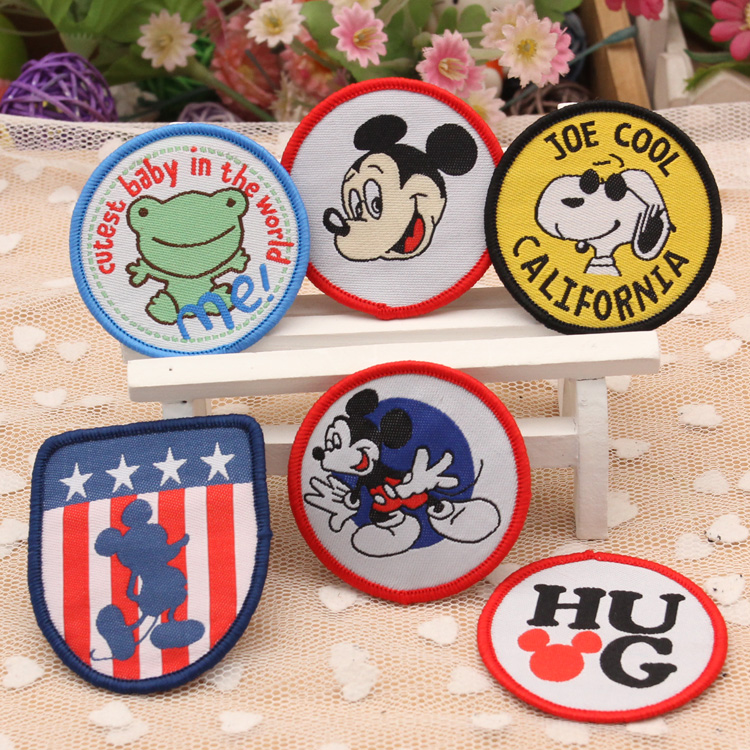 Lai mia commoner children patch stickers decorative stickers cute cartoon decals 128 # without gum sew woven label