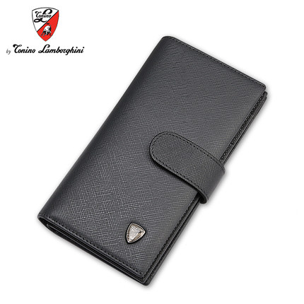 Lamborghini/lamborghini folded card bit more card packs card package long section of men's leather buckle card pack