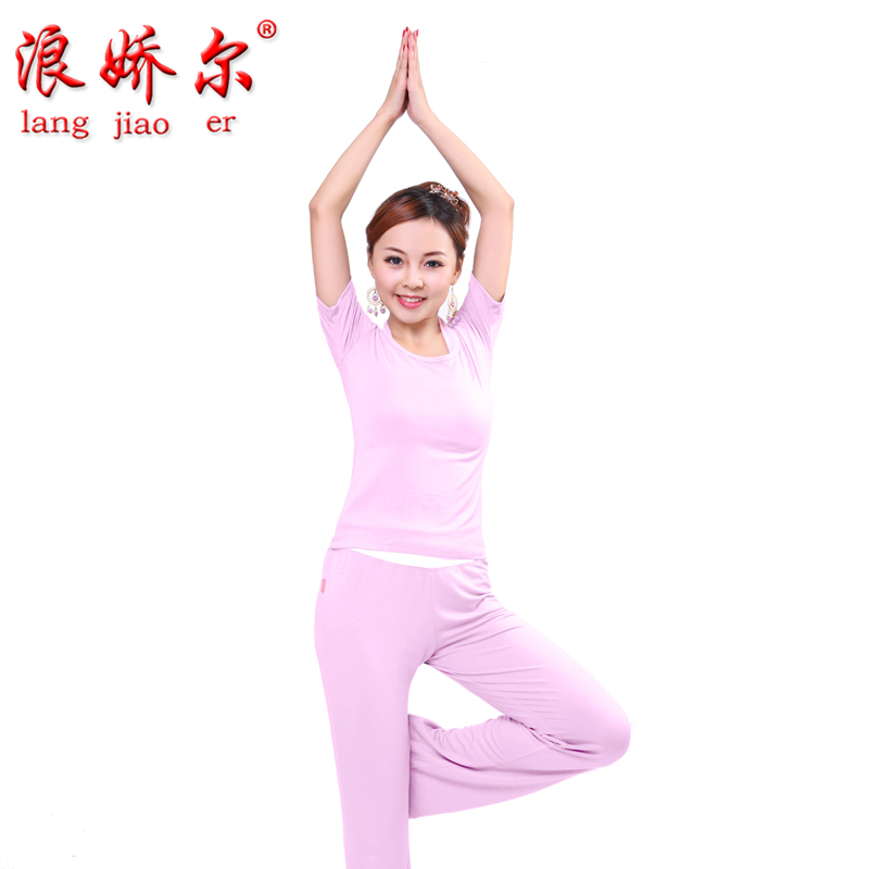 Lang johnson seoul parure autumn and winter 2014 new yoga fitness dance clothes yoga clothes yoga clothing was thin female models