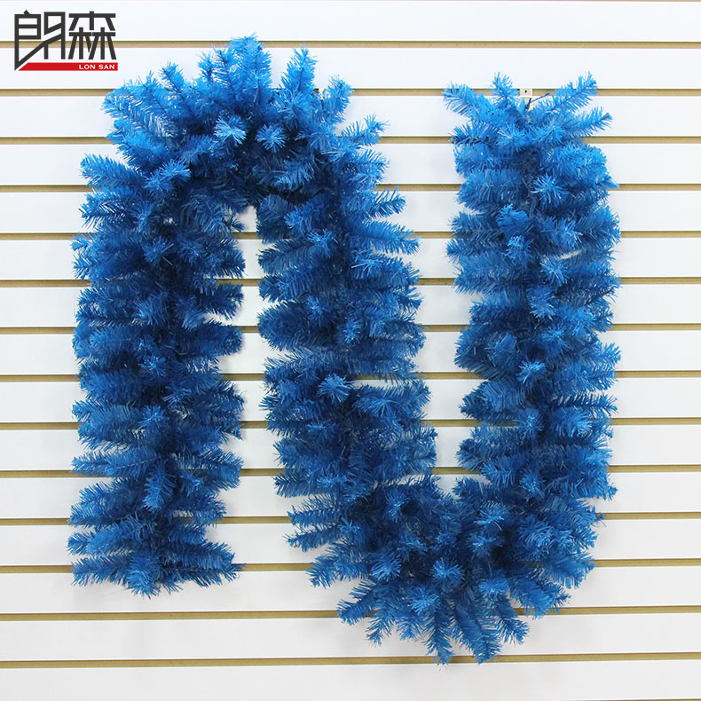 Lang sen 2.7 m blue 300 encryption christmas rattan cane christmas ornaments christmas rattan christmas wreath christmas wreath