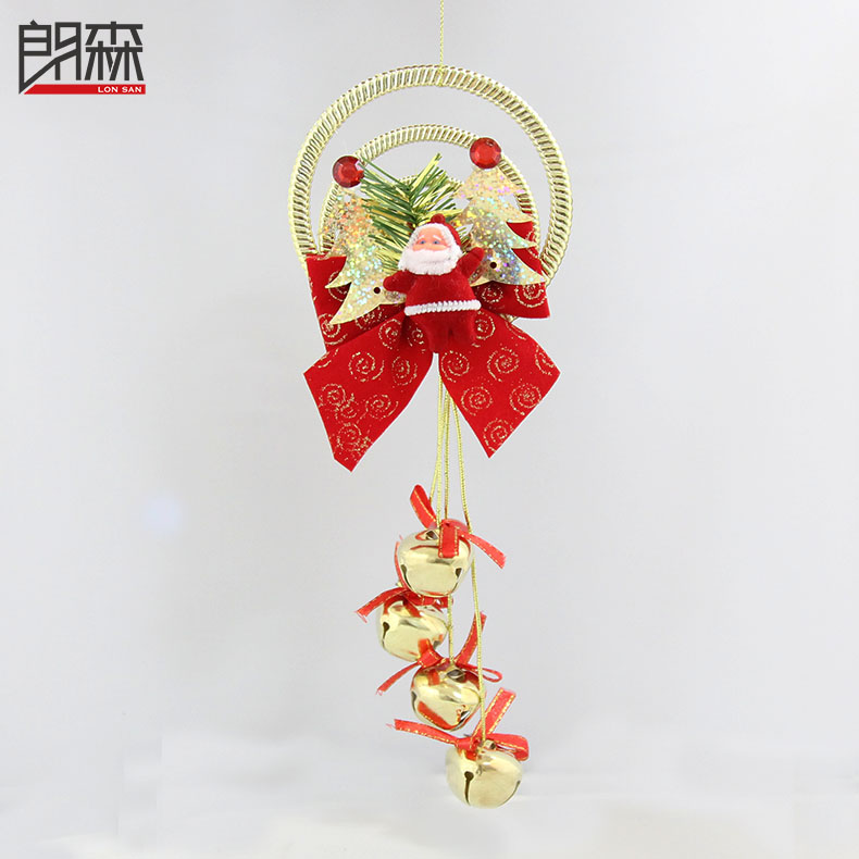 Lang sen christmas ornaments santa claus christmas bells christmas gifts christmas bells christmas tree scene with gifts