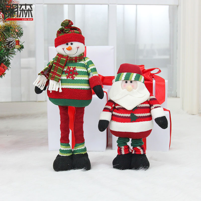 Lang sen christmas telescopic muppet christmas snowman santa claus christmas decoration christmas window decoration