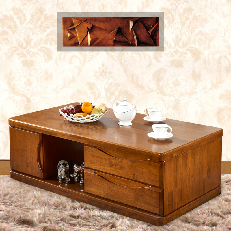 Langin ranking minimalist modern living room furniture solid wood coffee table wood coffee table rectangular coffee table creative wood coffee table drawer