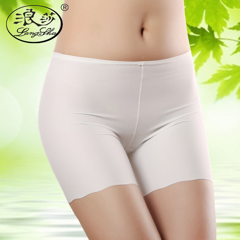 Langsha female summer safety pants anti emptied ice silk lace waist seamless boxer shorts thirds safety pants thin section