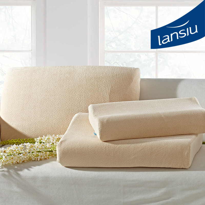 Lansiu/lansi feather pillow cervical pillow pressure relief massage pillow health care neck pillow latex pillow
