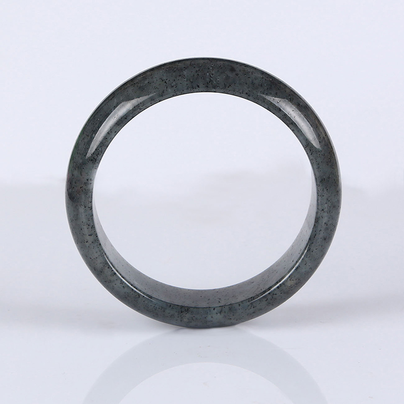 Laoshan natural jade in xinjiang hetian jade black jade bangle bracelet 60.5mm authentic and nephrite jade with a certificate