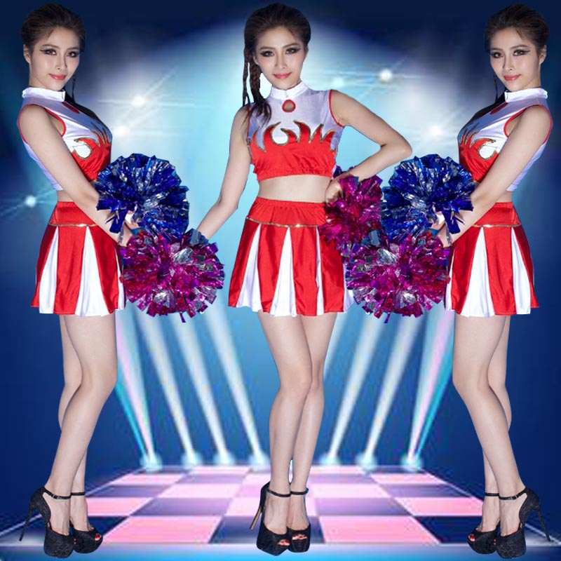 Lara cheerleading uniforms cheerleading football baby clothing cheerleading apparel cheerleading performance clothing costumes female jazz dance clothes suit