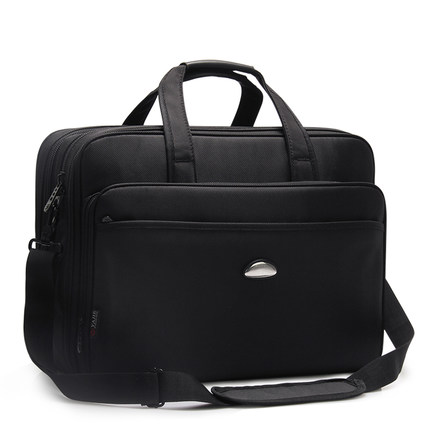 Large capacity bag business bag 17 inch laptop bag briefcase portable shoulder bag business bag oxford cloth tool