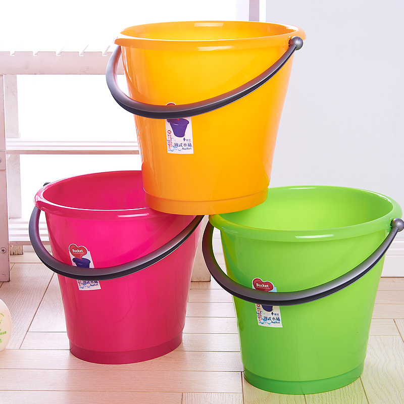 Large capacity of european large plastic bucket to mention buckets bucket car wash bucket thicker plastic bucket storage bucket 14l