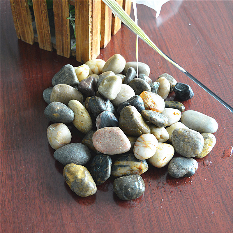 Large depth highly polished stone pebble stone paving stone pebble stone multicolored stone stone stone fish tank aquarium fish tank
