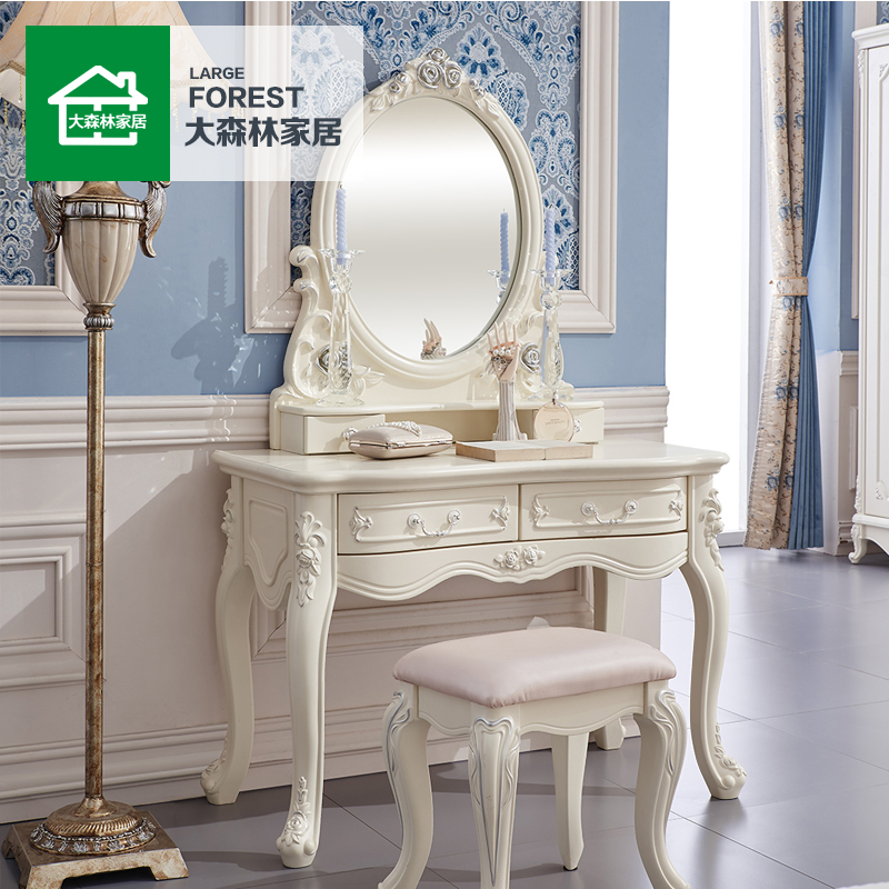 Large forest g2 continental furniture bedroom dresser dressing table small apartment korean princess makeup vanity dressing table cabinet