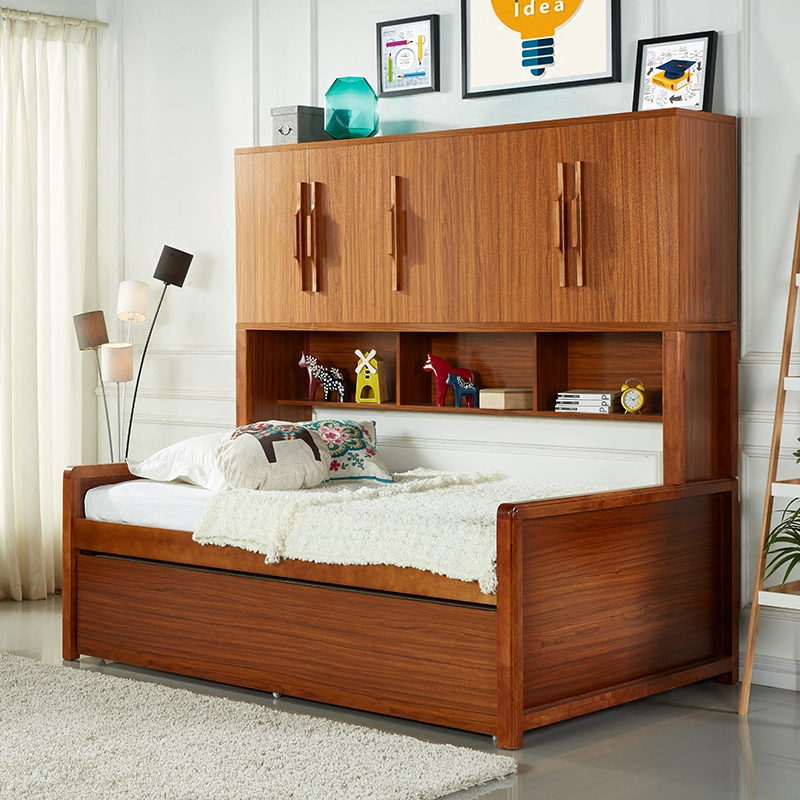 Large furniture combination of solid wood children's bed bunk bed mother and child bed credenza versatile wardrobe bed bed bed boy bed trailer bed with