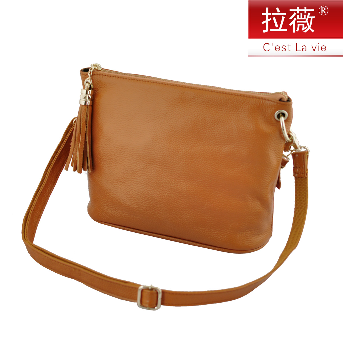 Lawei genuine leather first layer of leather handbags fringed bag handbag shoulder bag casual college wind