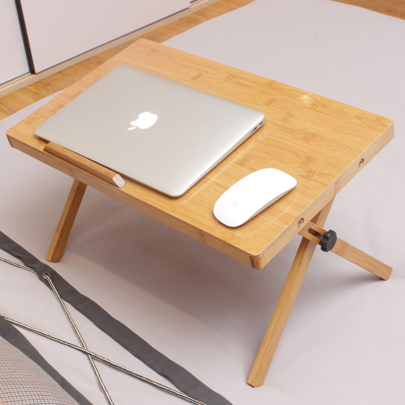 Get Quotations · Lazy Laptop Table Bed With Foldable Dining Table To Read  And Write Student Dormitory Simple Small