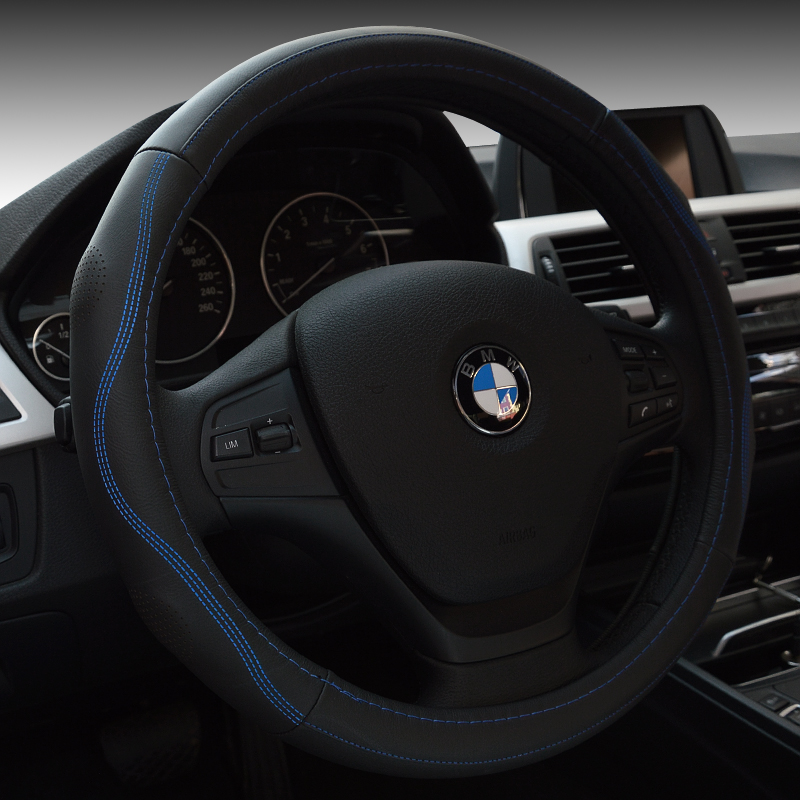 Leather steering wheel cover suitable for audi q5/q3/a4l/a6l/a1/a3/a5 /Q7/a8l