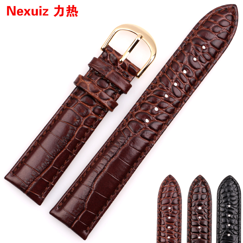 Leather watch band buckle applicable armani ar2447 men and women 20 | 22mm | 2432 | 2448 watches accessories