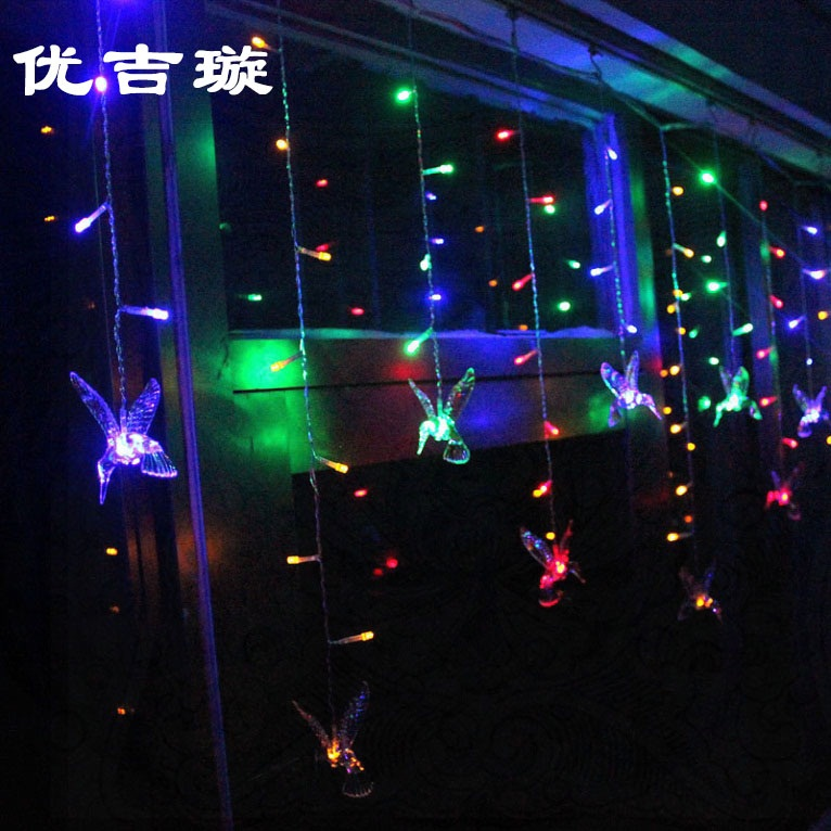 Led icicle lights curtain lights flashing string lights starry christmas lights arranged marriage room decoration wedding supplies