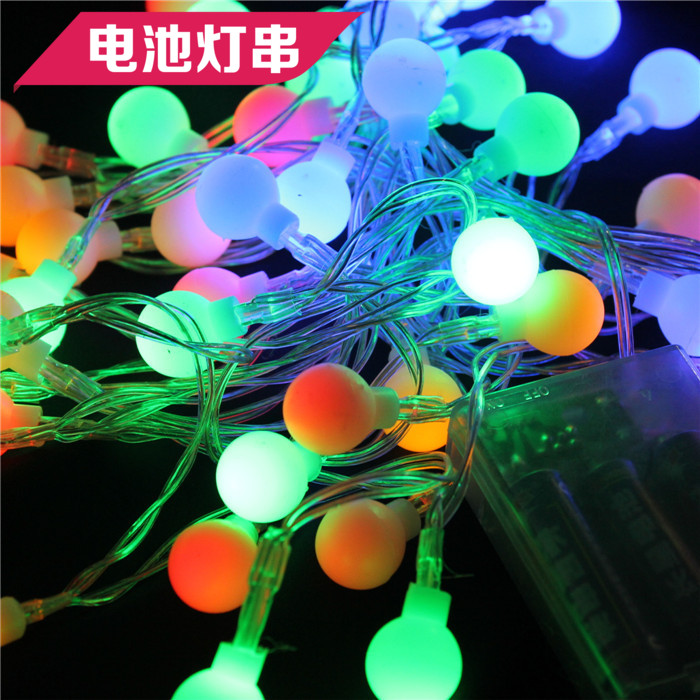 Led star lights flashing ball battery over christmas lights string lights string lights pentagram star lights free postage