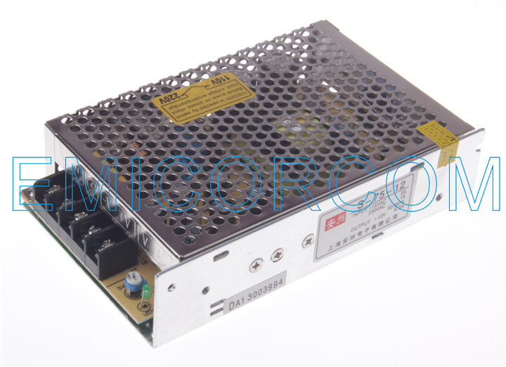 Led switching power supply 75 w dc12v/6a switching power supply ac to dc 220 v model s-75-12