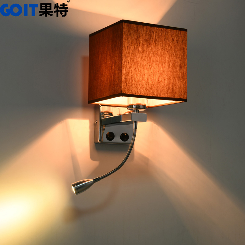 Led wall lamp bedside bedroom modern minimalist creative fabric wall lamp wall lamp american living room hallway hallway wall lamps