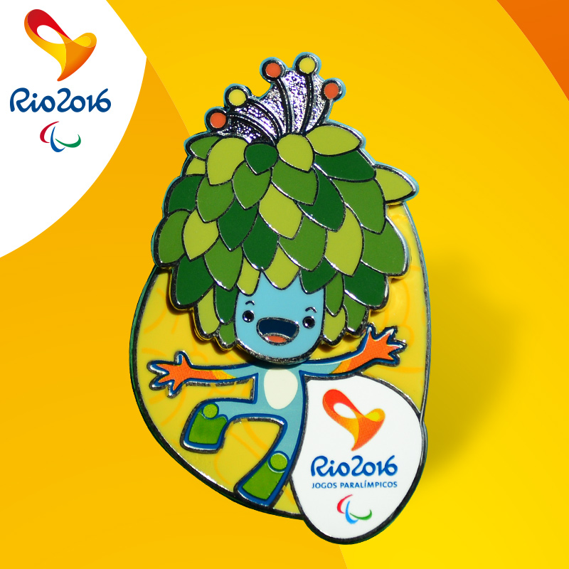 Letter dated 2016 from the rio and paralympic games mascot head badge