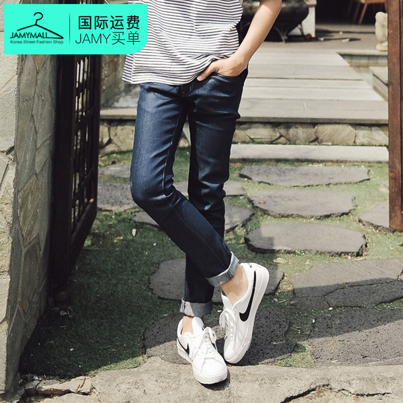Letter dated 2016 from the south korea genuine summer new men's popular fashion casual and comfortable jeans